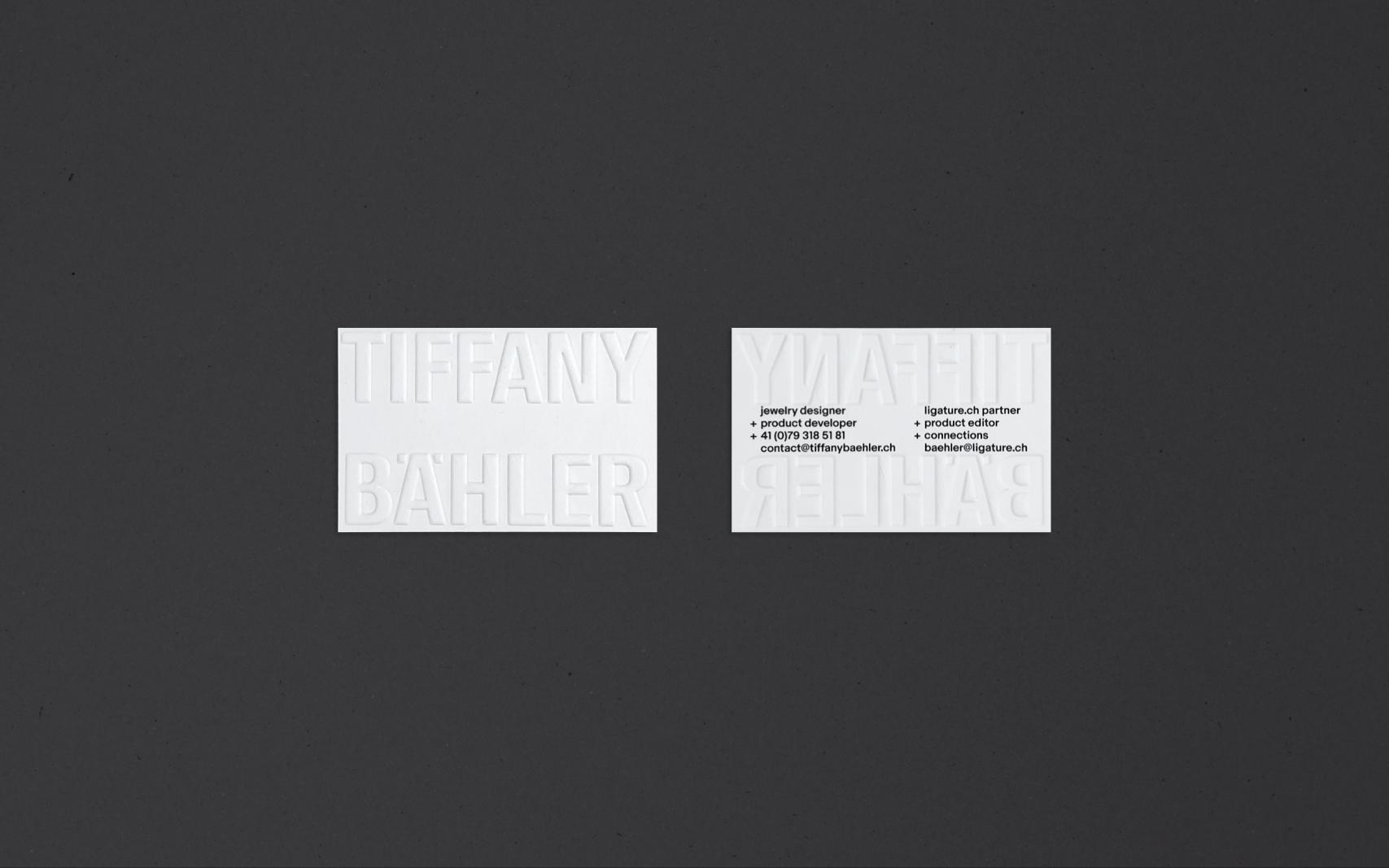 tiffany baehler business card
